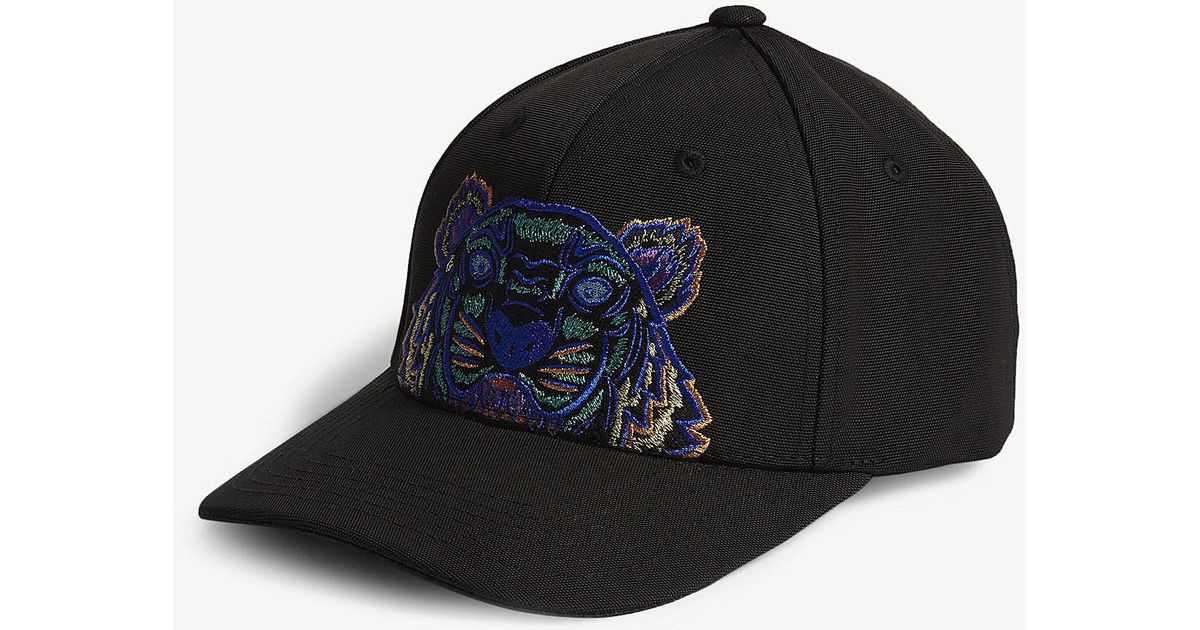 8d3d75afa79 Lyst - KENZO Tiger Canvas Cap in Black for Men