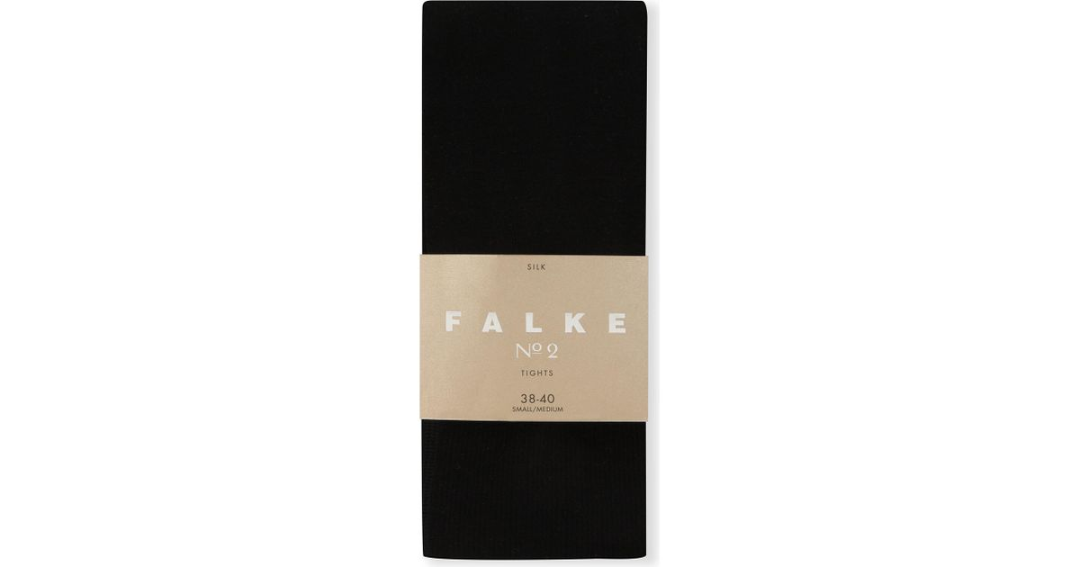 70e686532 Lyst - Falke Silk No.2 Tights in Black - Save 2%