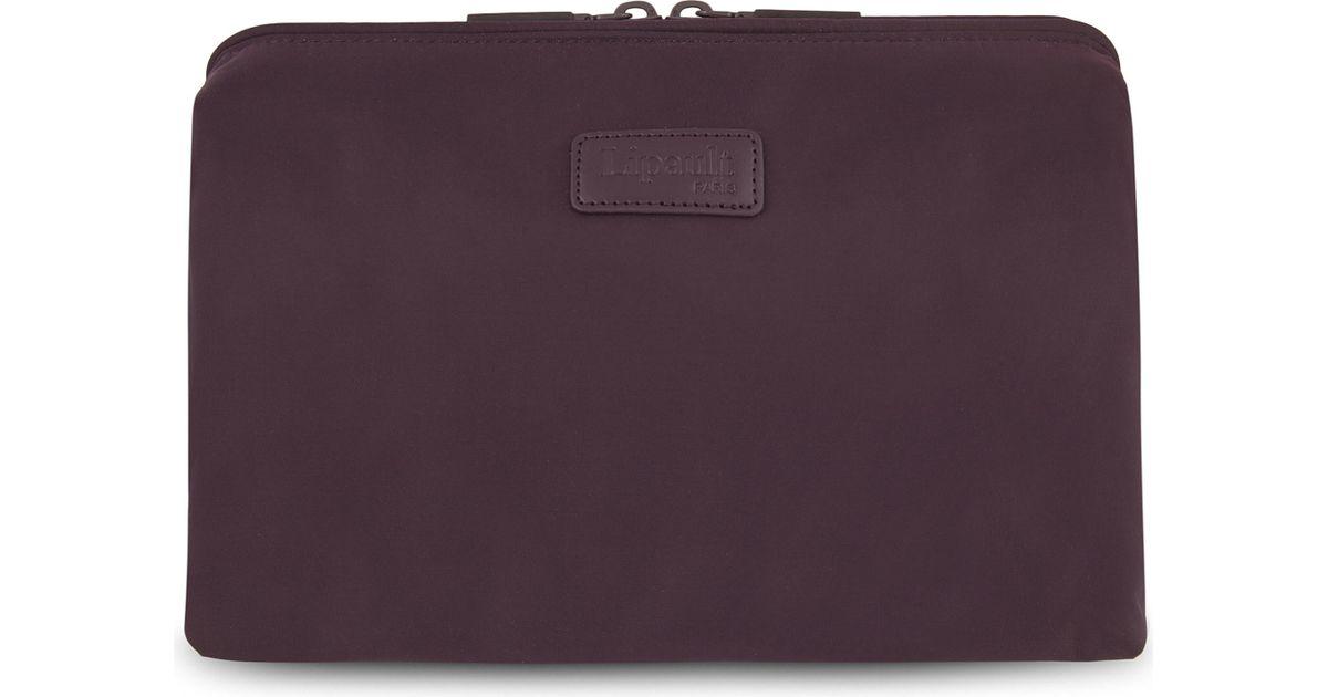 7afaa42993f0 Lyst - Lipault Plume Nylon Toiletry Bag in Purple