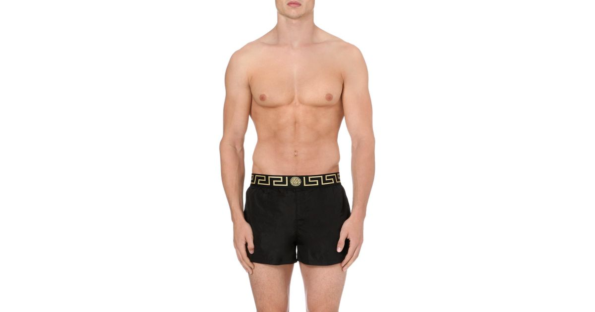 a8743671f941 Lyst - Versace Iconic Swim Shorts in Black for Men