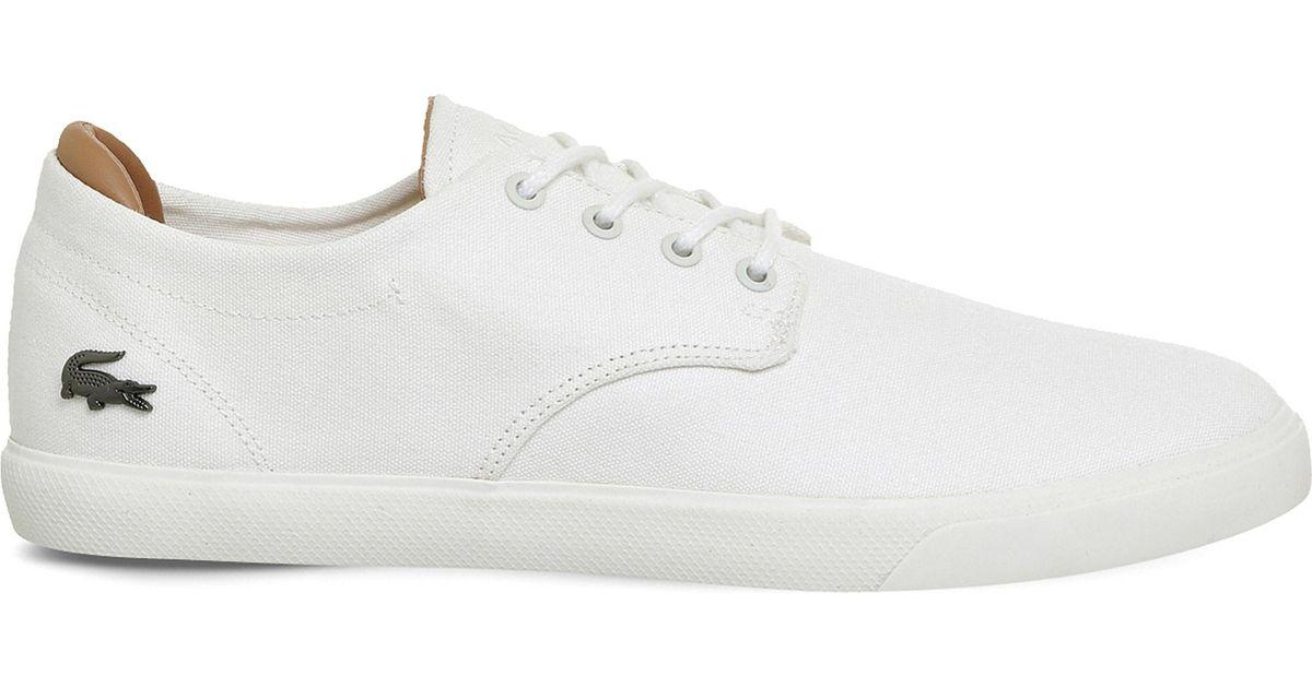 Lacoste Espere Canvas Trainers in White