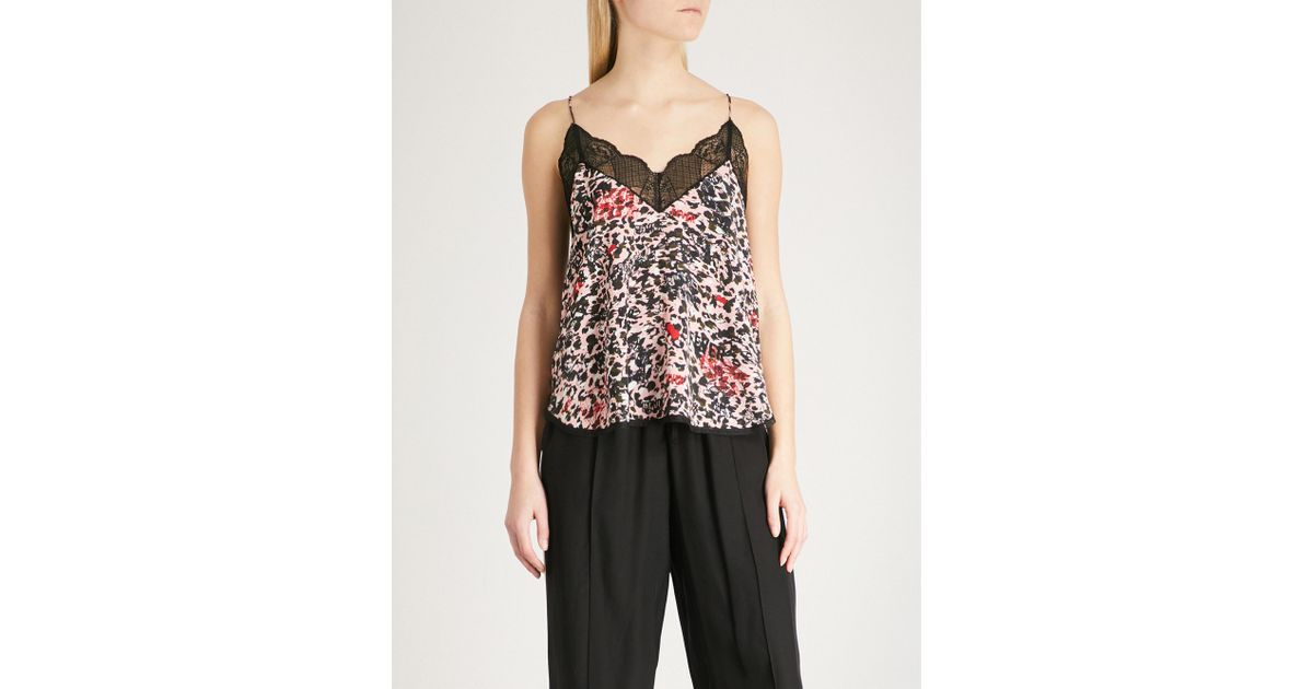 Voltaire Christy Stylebop Animal Zadigamp; Camisole With Print Lace Marrón D2H9EWI