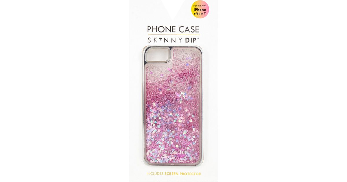 reputable site 2c40f 3e27e Skinnydip London - Multicolor Flamingo Sequin Glittered Iphone 6/7 Case -  Lyst