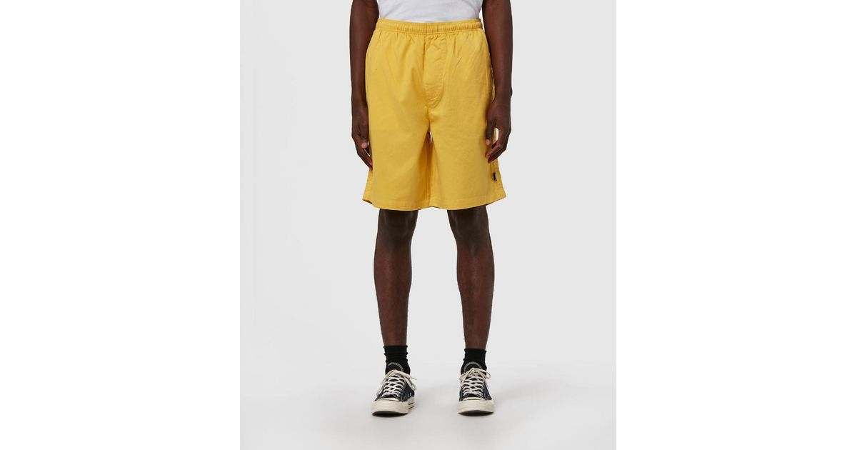 9f5dfcc75a Stussy Og Brushed Beach Short in Yellow for Men - Lyst