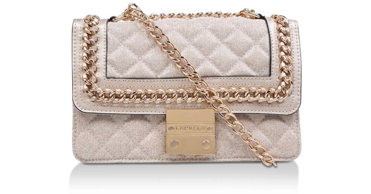 Carvela Kurt Geiger Gold  bailey  Chain Shoulder Bag in Metallic - Save 14%  - Lyst e892c382db5c0