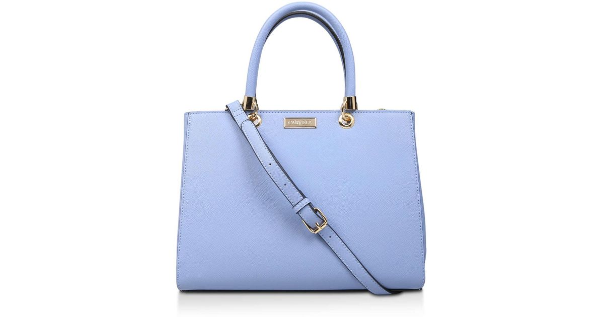 a1154c94d Carvela Kurt Geiger Dory Structured Tote in Blue - Lyst