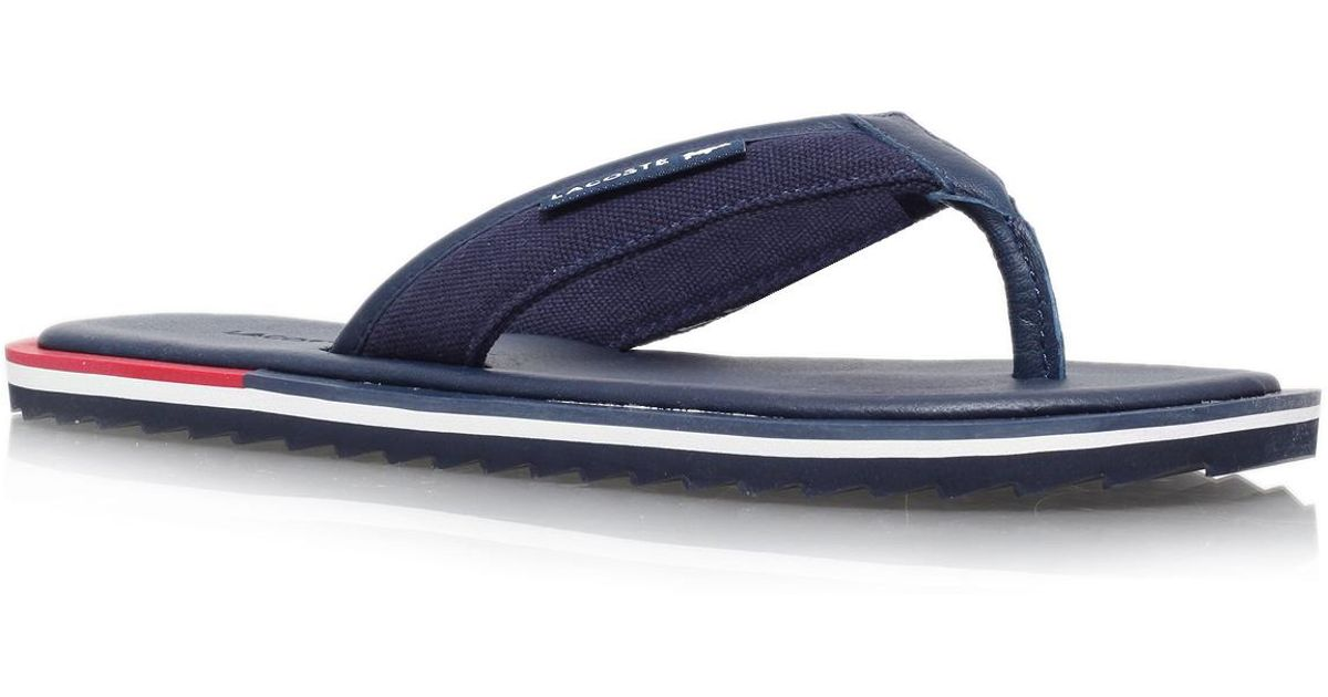 e681a6c0df1503 Lacoste Athali 2 Flip Flop in Blue for Men - Lyst