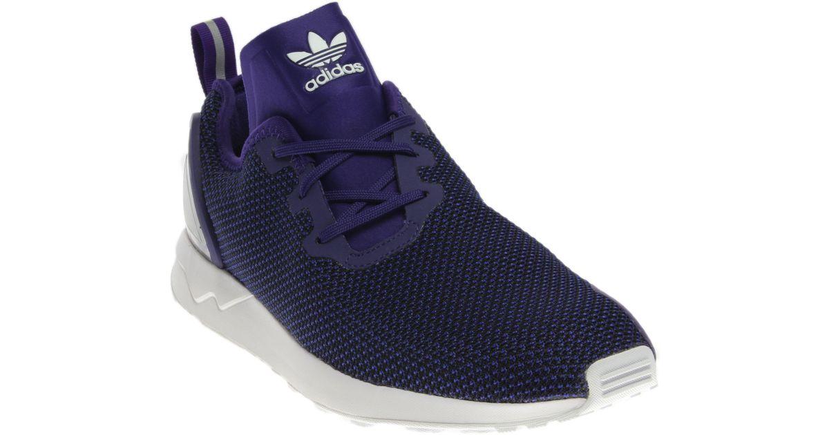 meet 70505 07c43 Adidas Purple Zx Flux Adv Asym for men