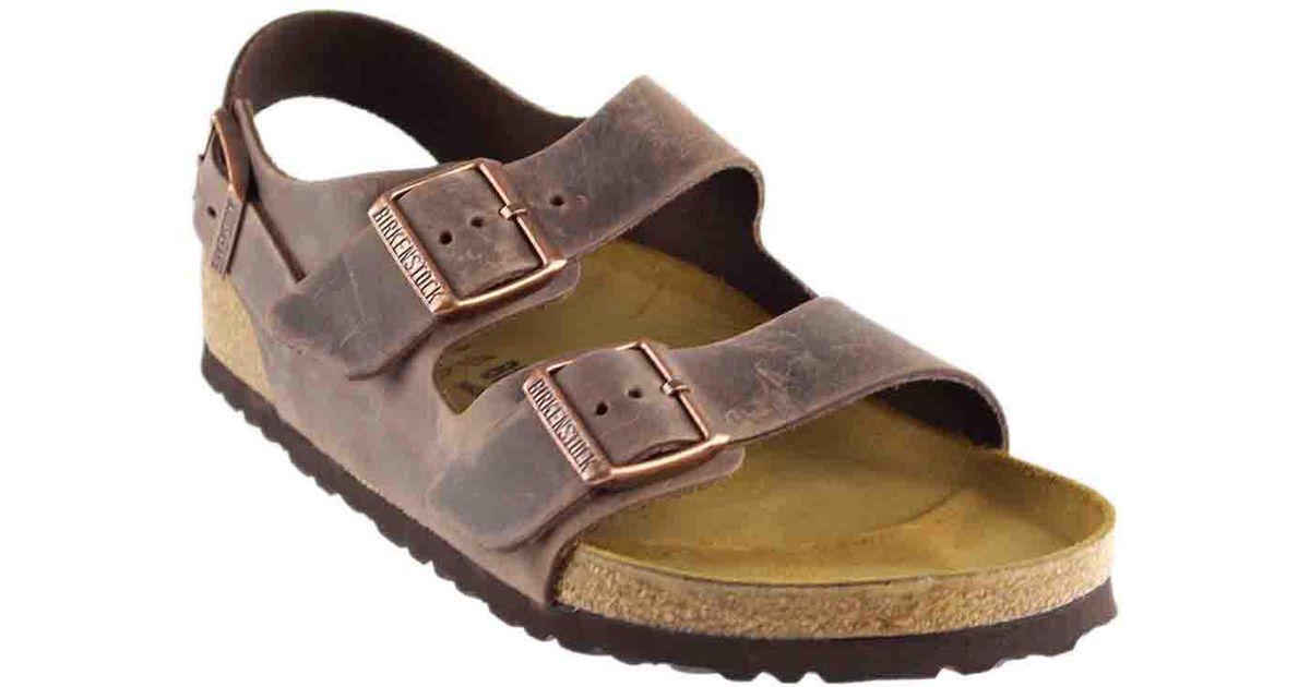 569c7e74dbe Lyst - Birkenstock Milano Leather Heel Strap in Brown for Men