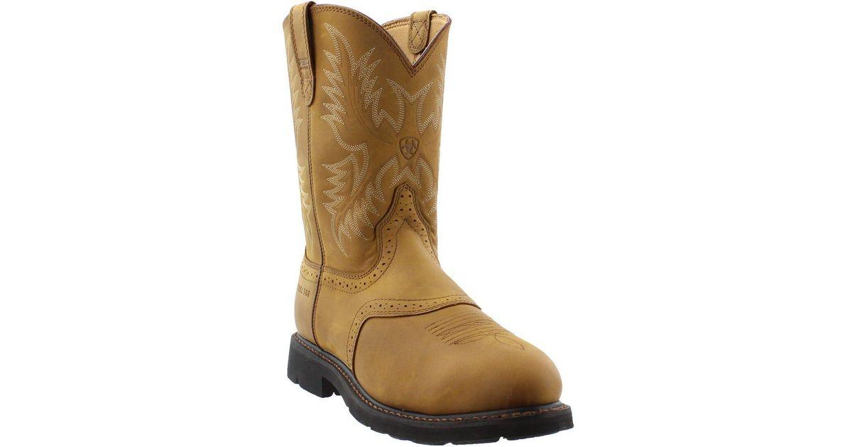 Ariat Brown Sierra Saddle Steel Toe Work Boot for men