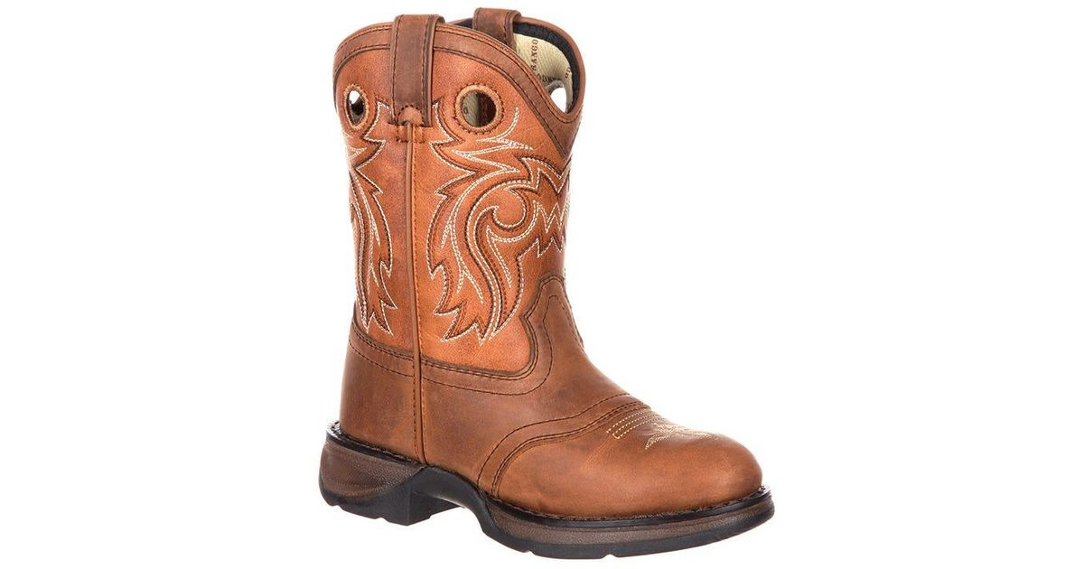 420d81a3185 Durango - Brown Lil' Big Kids' Western Saddle Boot for Men - Lyst