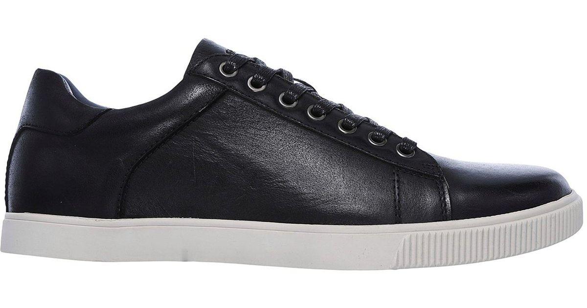 Aleta ignorar pasajero  Skechers Leather Volden - Fandom in Black for Men - Lyst