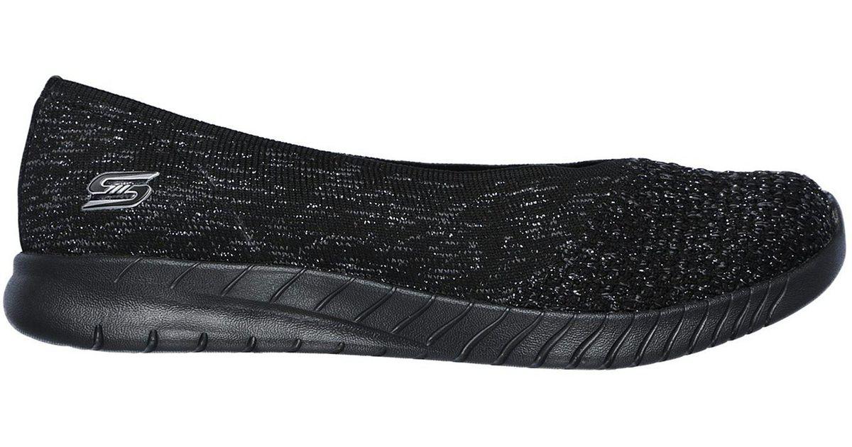 0e8dd51bbc7af Skechers Black Wave Lite Slip-on