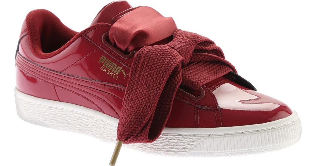 the latest 544ac 9d356 PUMA Red Basket Heart Patent Sneaker