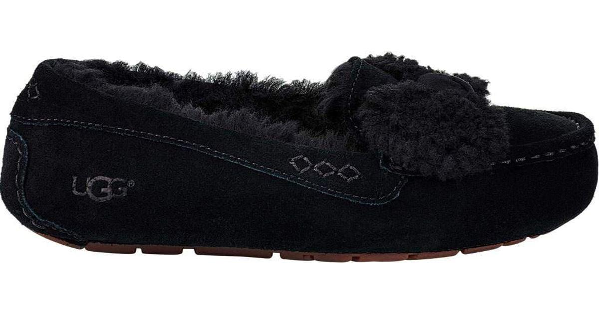 7e0f89b8315 Ugg Black Ansley Fur Bow Loafer
