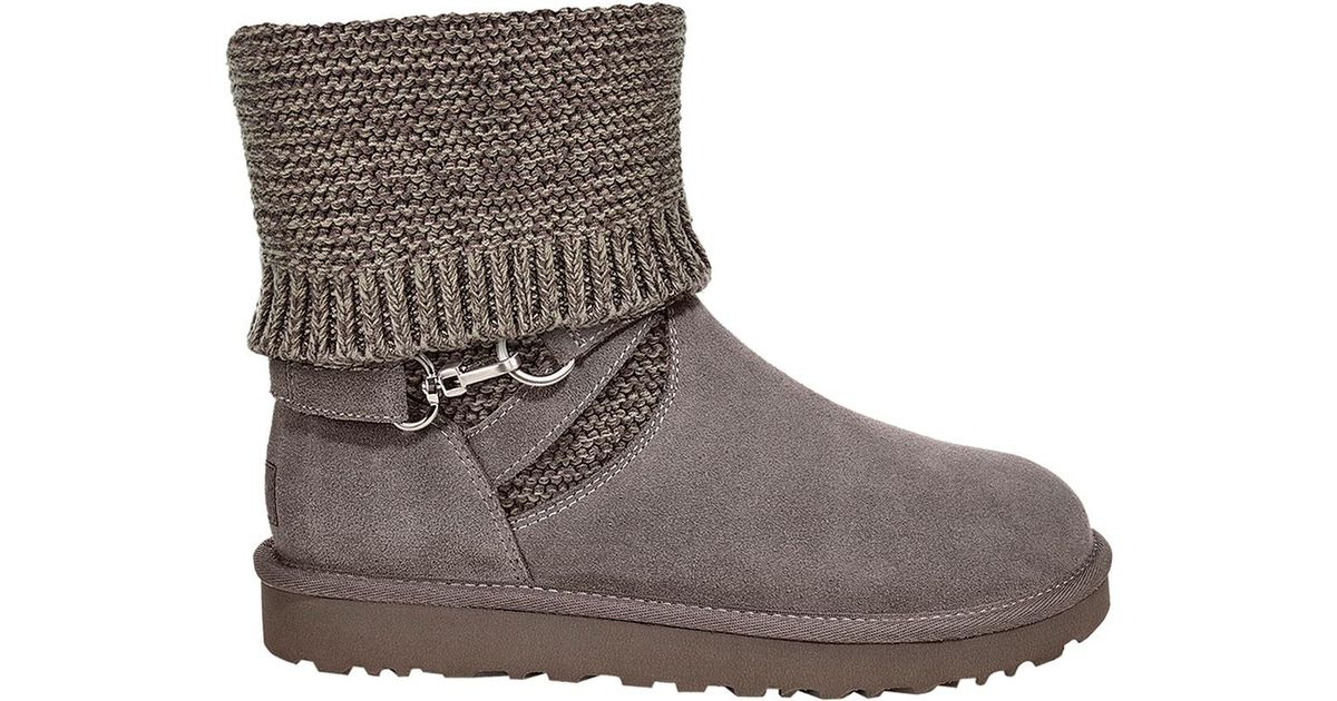 abe18f9478f Ugg Gray Purl Strap Ankle Boot