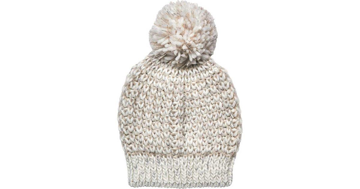 91cffe141ec Lyst - San Diego Hat Company Metallic Yarn Beanie With Pom Knh3604 in White