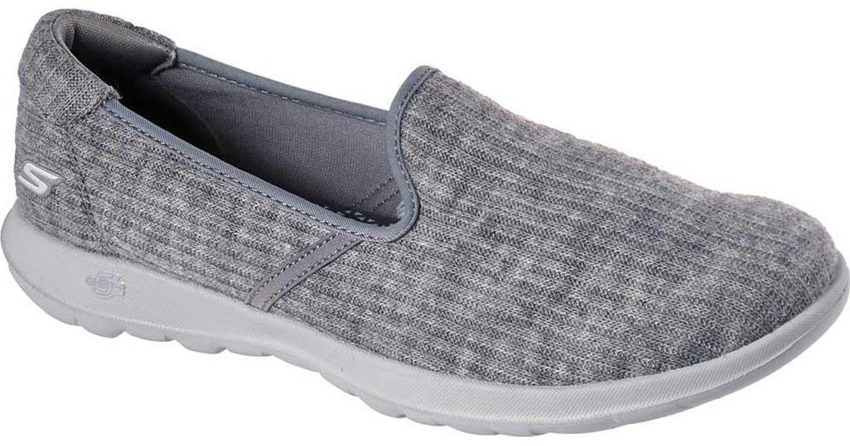 Skechers Gray Gowalk Lite Enchantment Slip on Walking Shoe Lyst