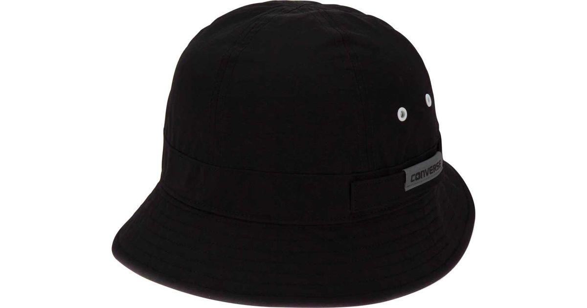 Lyst - Converse Crushable Bucket Hat in Black for Men 80b88879de94