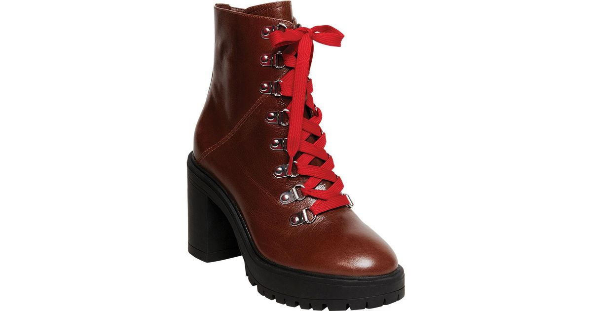eb695279d6c Steve Madden - Red Royce Ankle Bootie - Lyst