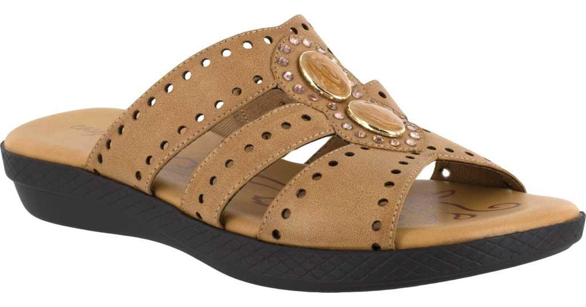 7a6d1aa1d Lyst - Easy Street Vara Jeweled Sandals - Save 2%