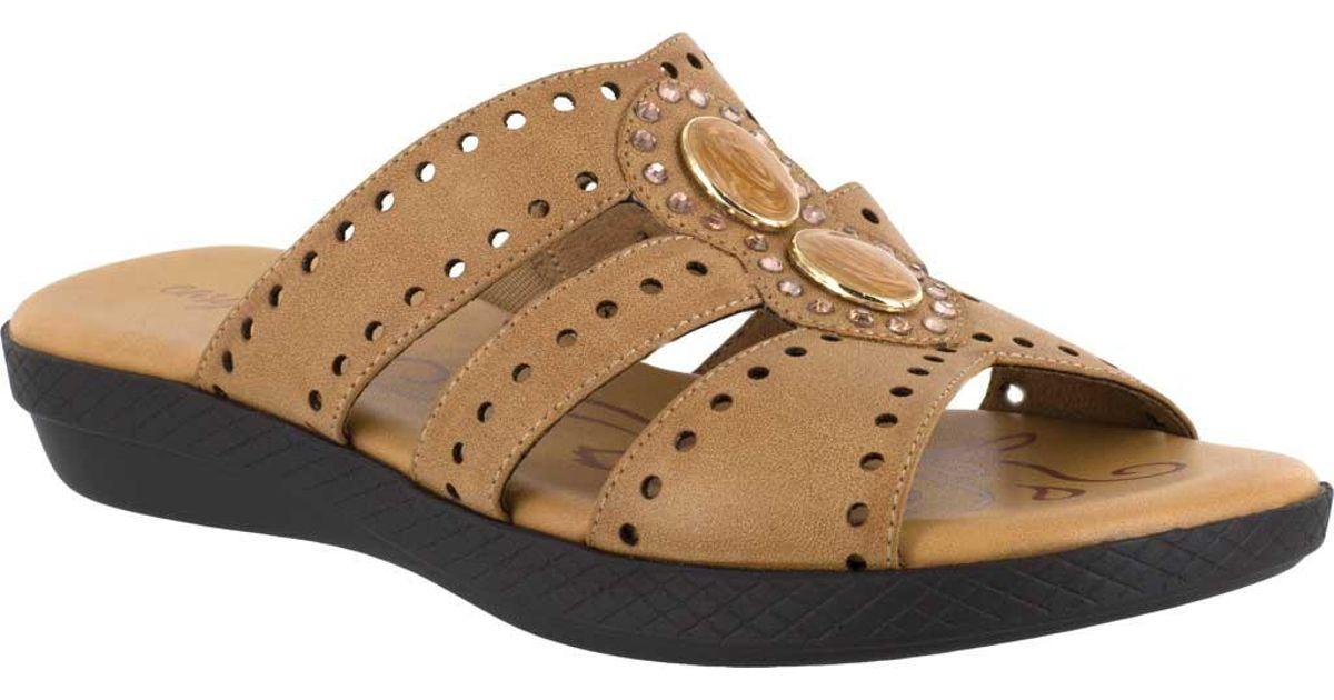 b46983d138c9 Lyst - Easy Street Vara Jeweled Sandals - Save 2%