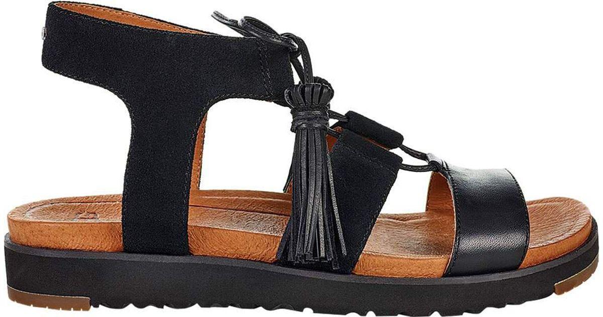 cf7a4a1cb5a Ugg Black Maryssa Gladiator Sandal