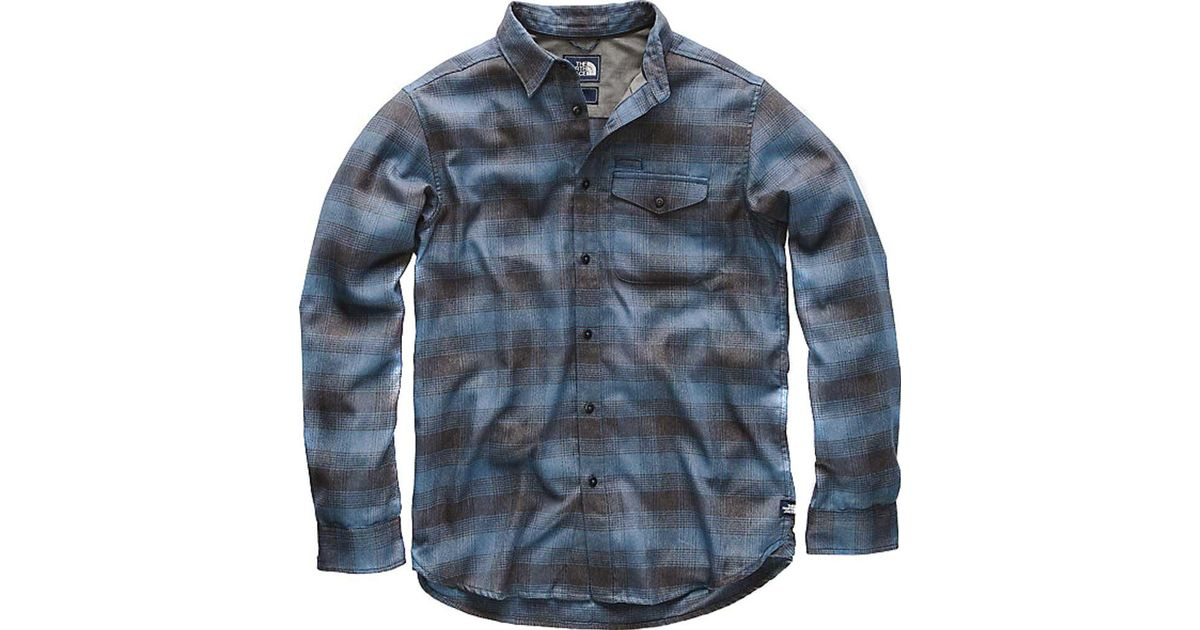 2686483ea The North Face - Blue Long-sleeve Thermocore Shirt for Men - Lyst