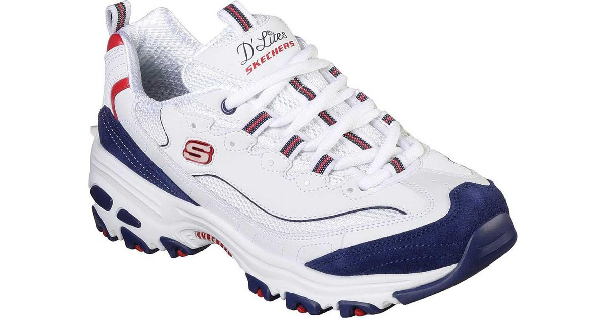 fad2dc9191 Skechers D'lites March Forward Sneaker in White - Save 36% - Lyst