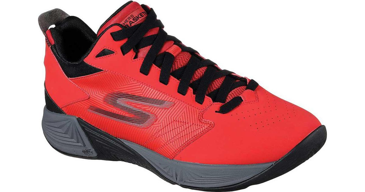 Buque de guerra sobrina debajo  Skechers Synthetic Gobasketball Torch 2 Mid Basketball Shoe in Red/Black  (Red) for Men - Lyst