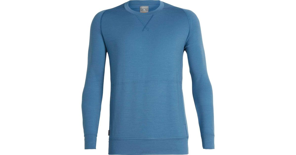 5cf4533049 Icebreaker Shifter Long Sleeve Crewe Sweater in Blue for Men - Lyst