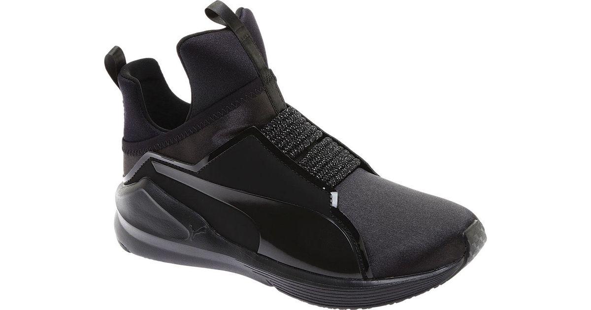 Lyst - PUMA Fierce Satin Ep Trainer in Black 8410b4e79