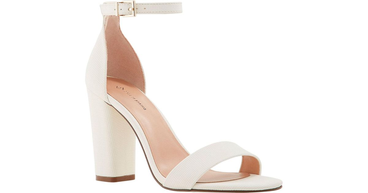 47474d5568 Lyst - Call It Spring Tayvia Block Heel Ankle Strap Sandal in White