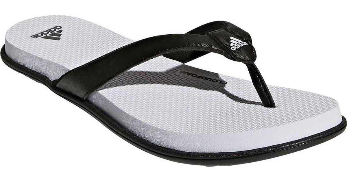 46119d7137fac Lyst - adidas Cloudfoam One Y Thong Sandal in Black