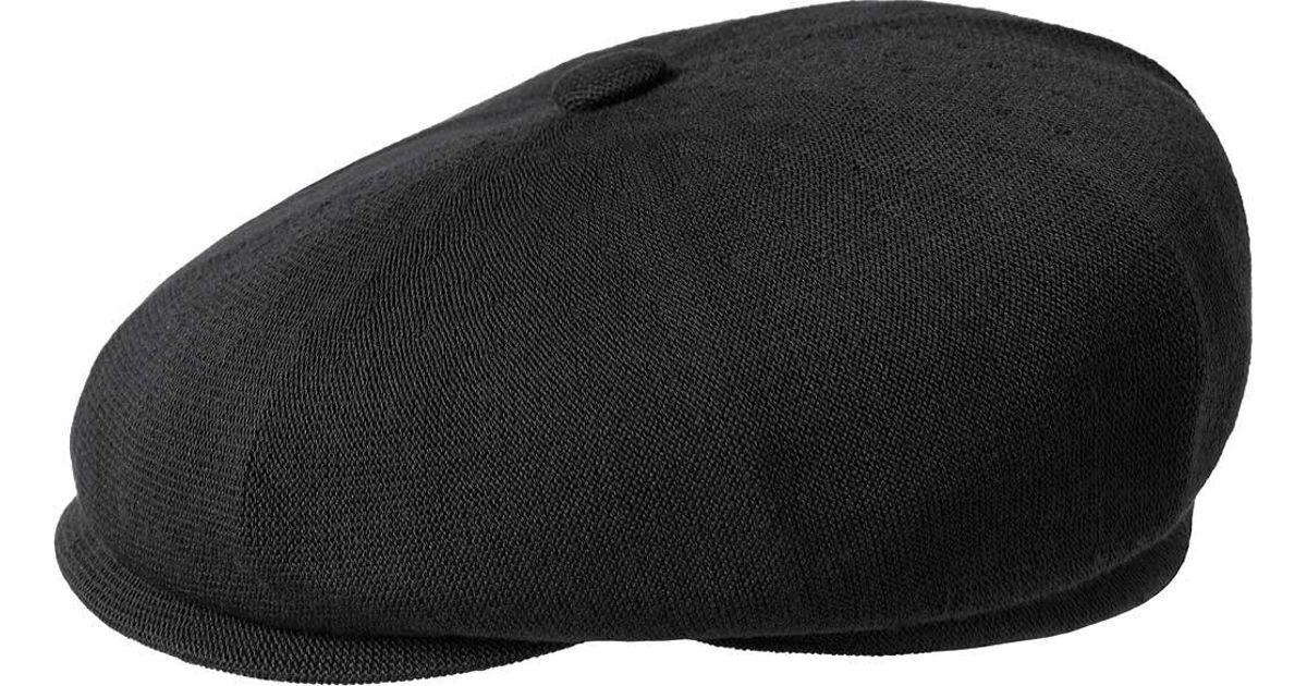 Lyst - Kangol Bamboo Hawker Newsboy Cap in Black for Men a1697564e59