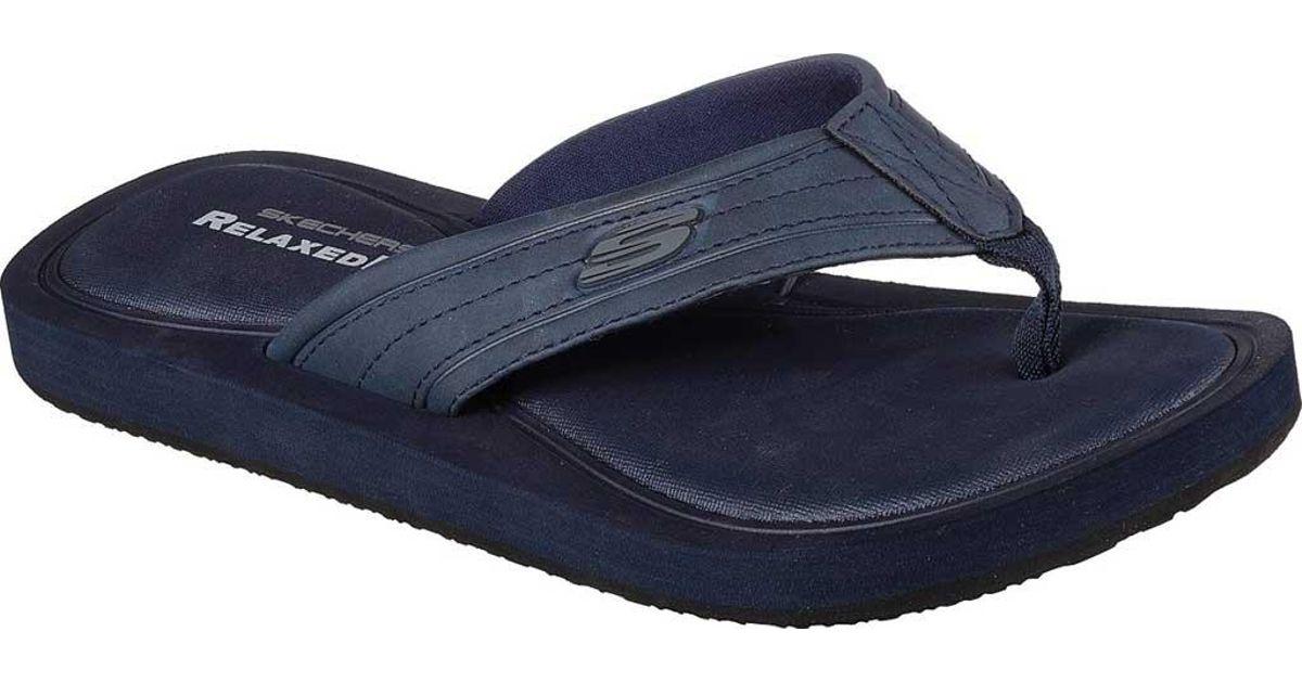For Relaxed Thong Sandal Blue Fit Skechers Tocker Men mN8n0w