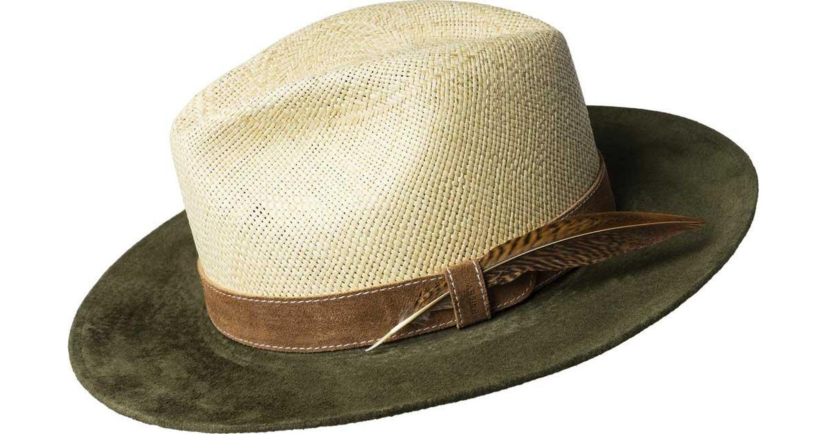 7a28a4ff2b6d3 Bailey of Hollywood Natural Halsey Genuine Panama 22782 for men