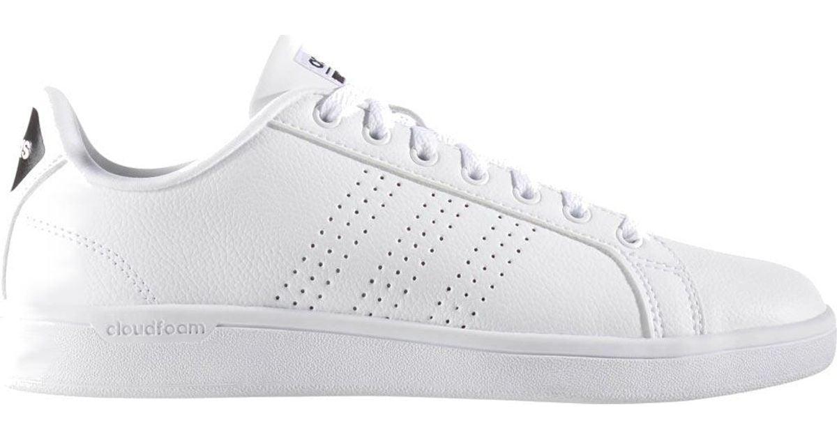 Adidas White Neo Cloudfoam Advantage Clean Court Shoe
