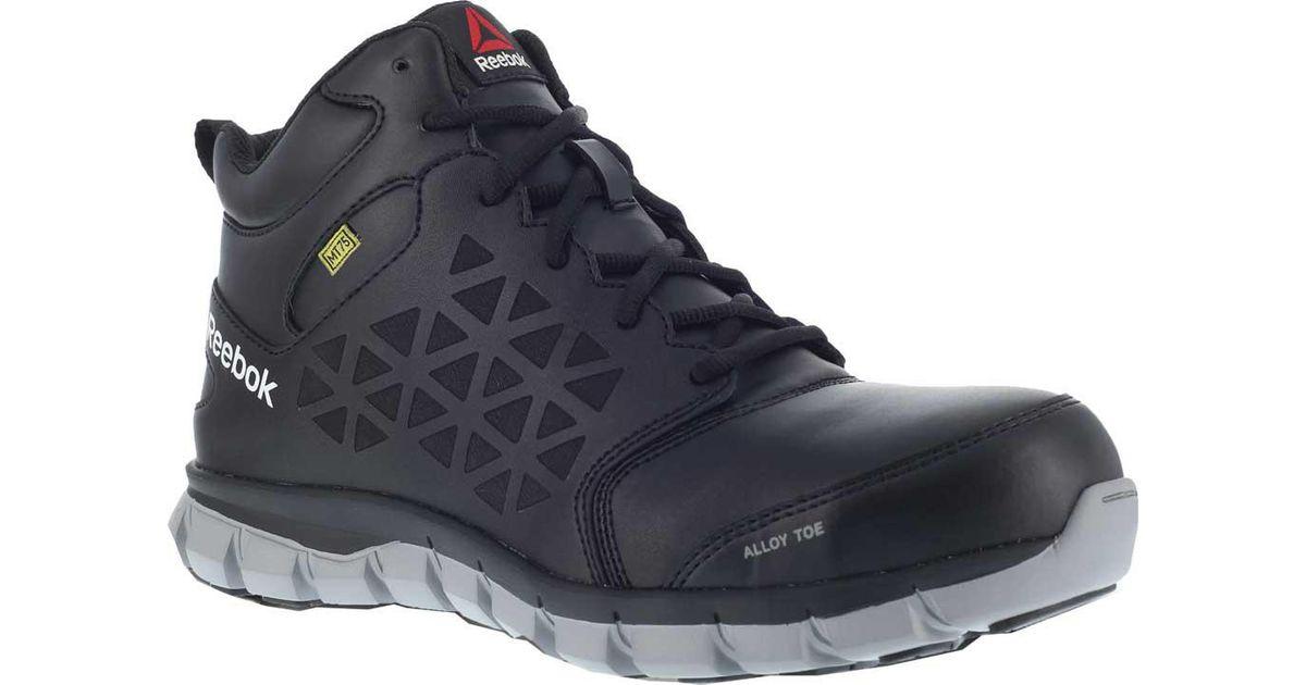 f9d800e140d6 Lyst - Reebok Rb4143 Sublite Cushion Work Alloy Toe Work Shoe in Black for  Men