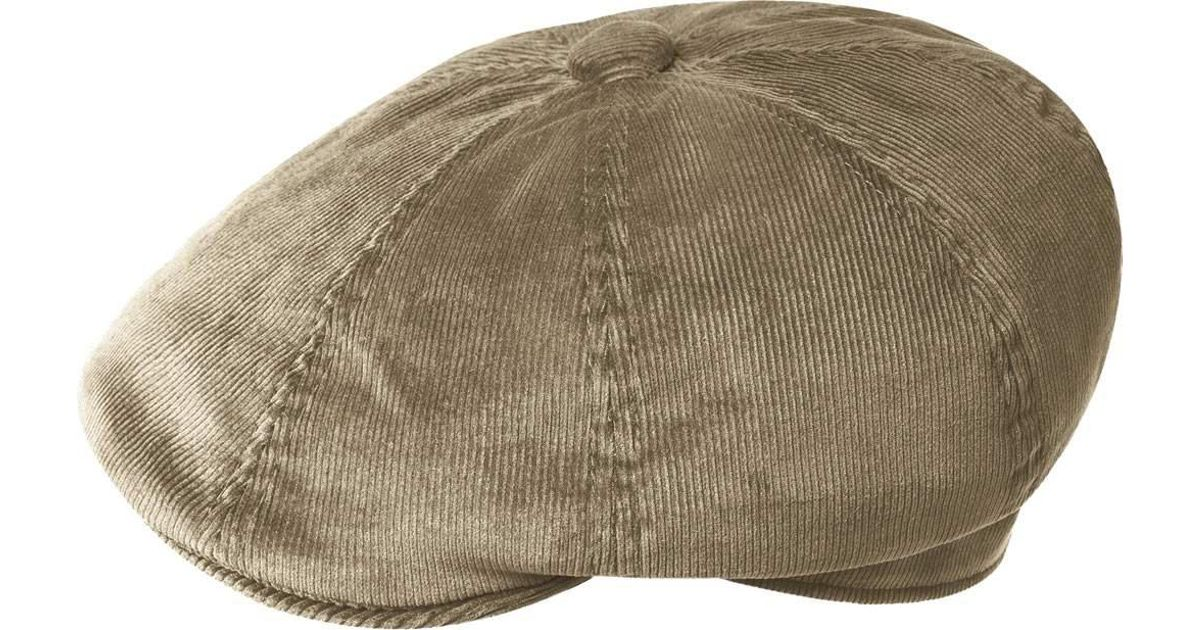 34ad2088975 Lyst - Kangol Cord Hawker Newsboy Cap in Natural for Men
