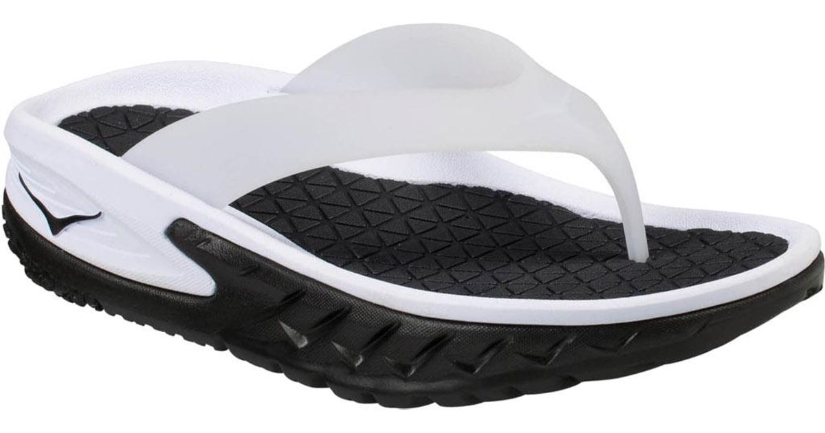 7028c01cfc18f3 Lyst - Hoka One One Ora Recovery Flip Flop in Black for Men