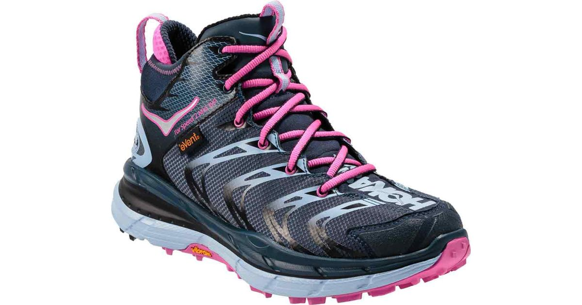 0308860a2e878 Hoka One One Blue Tor Speed 2 Mid Waterproof Hiking Shoe for men