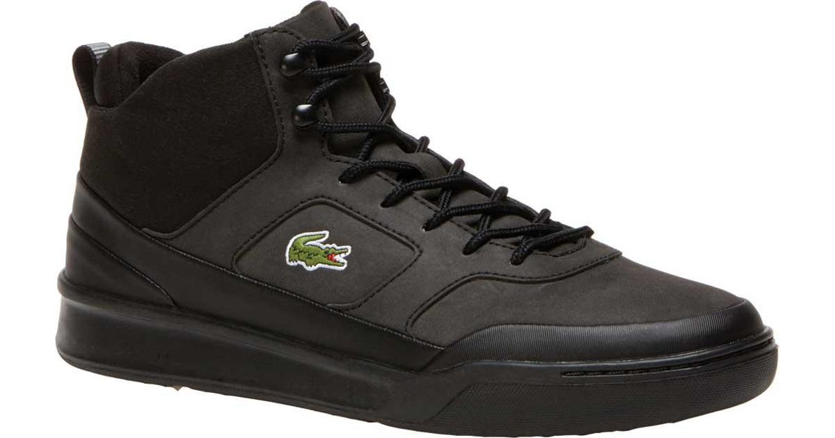 29fcfb4b2dfd59 Lyst - Lacoste Explorateur Sport Mid High Top Sneaker in Black for Men