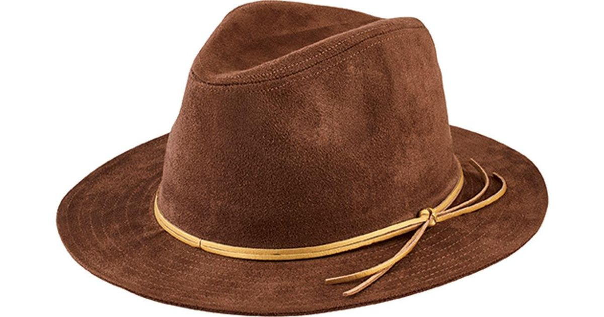 619ccd6082955 Lyst - San Diego Hat Company Faux Suede Fedora Cth8072 in Brown