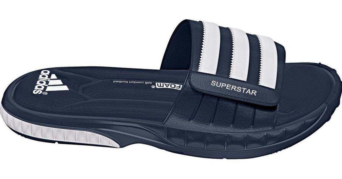 8847bf10be488b Lyst - adidas Superstar 3g Slide in Blue for Men