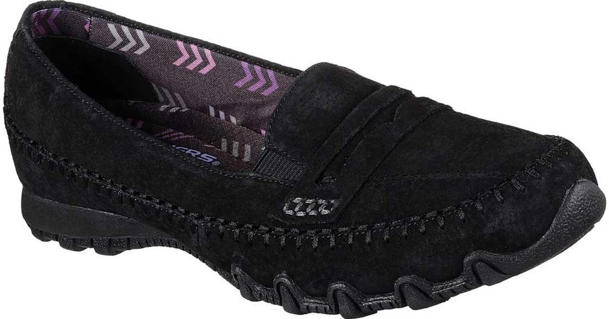 dd40c0851eb Lyst - Skechers Relaxed Fit Bikers Penny Lane Loafer in Black