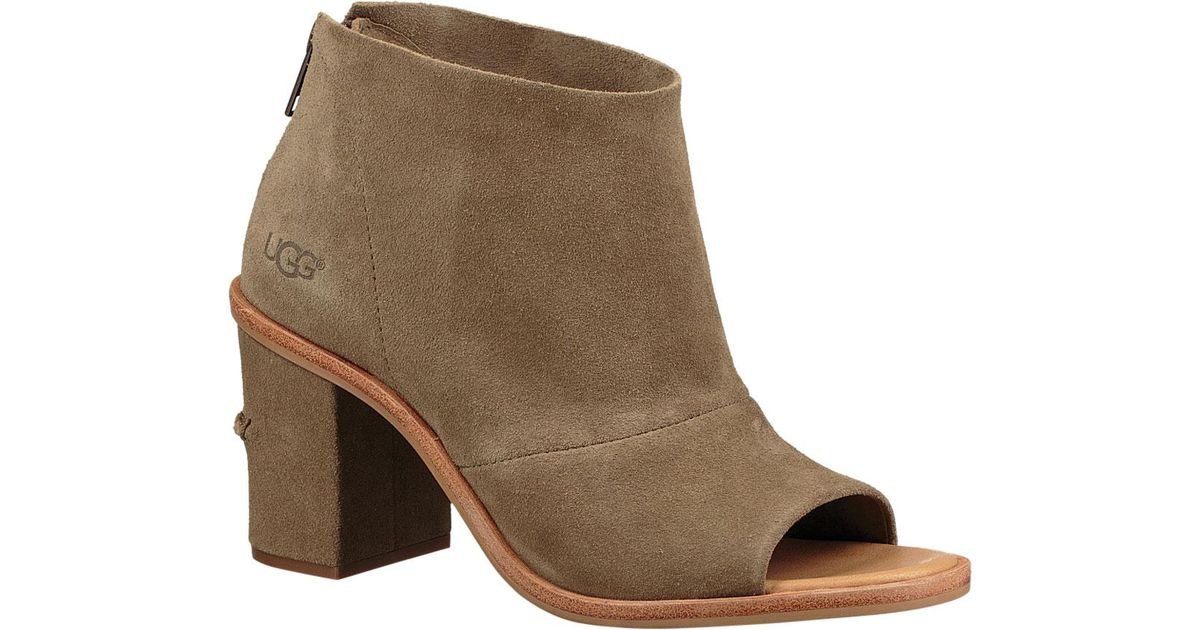 19585965e97 Ugg Brown Ginger Open Toe Bootie