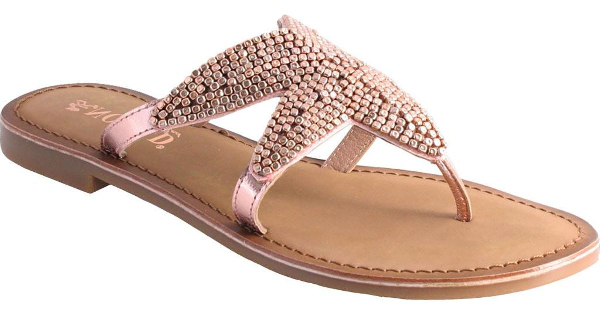 dcaa82e680617 Lyst - Nomad Shelly Starfish Thong Sandal in Pink