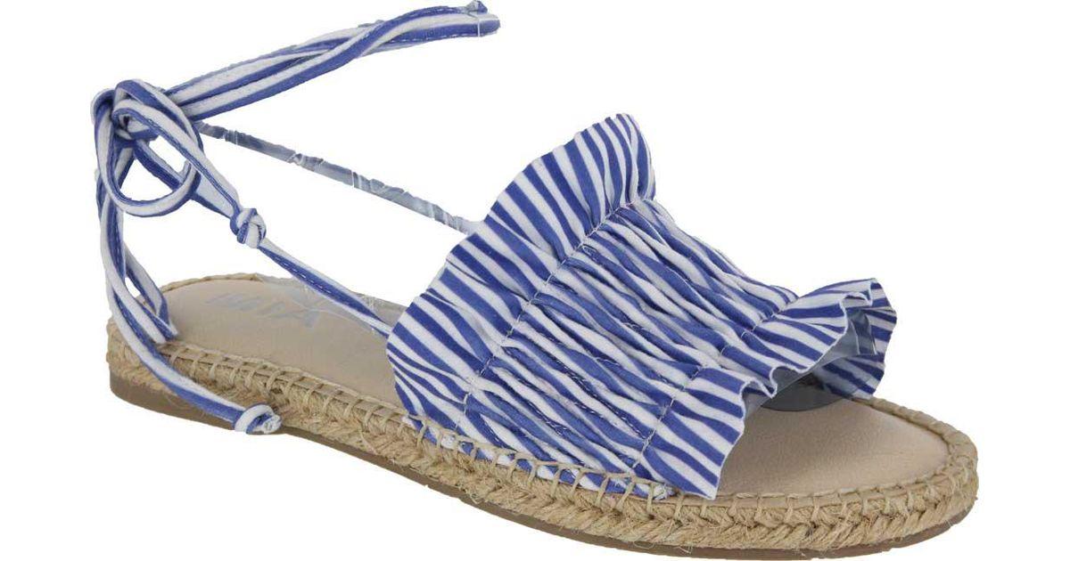 b2fb00bc2 Lyst - Mia Annalise Ankle Wrap Espadrille in Blue