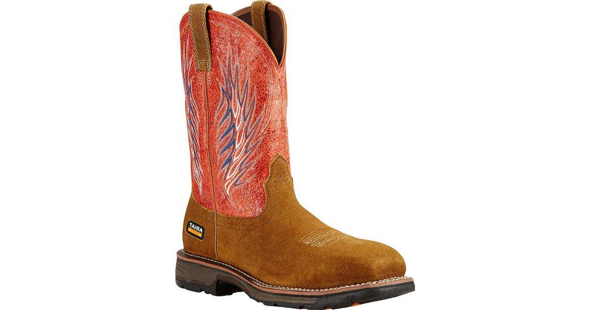 66c6fcc3ba3 Ariat - Brown Workhog Mesteño Ii Composite Toe Boot for Men - Lyst